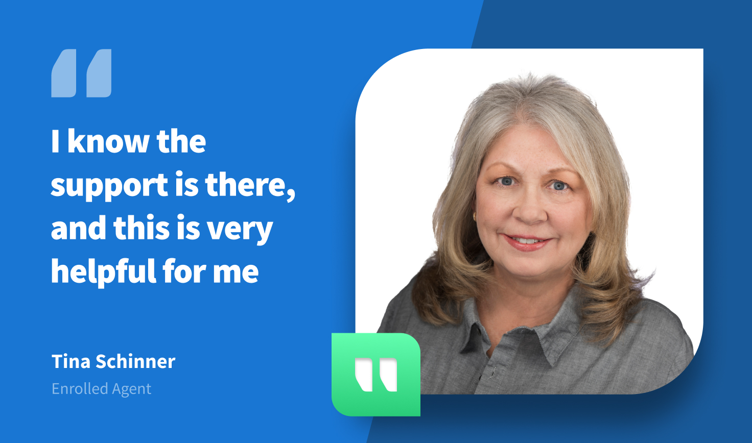 Tina Schinner on TaxDome 'I Know the Support is There, and This is Very Helpful for Me'