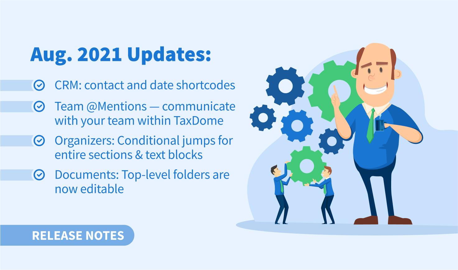 Update Augustus 2021