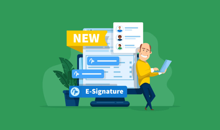 Redesigned E-Signature Flow: The First Step to Signature Templates