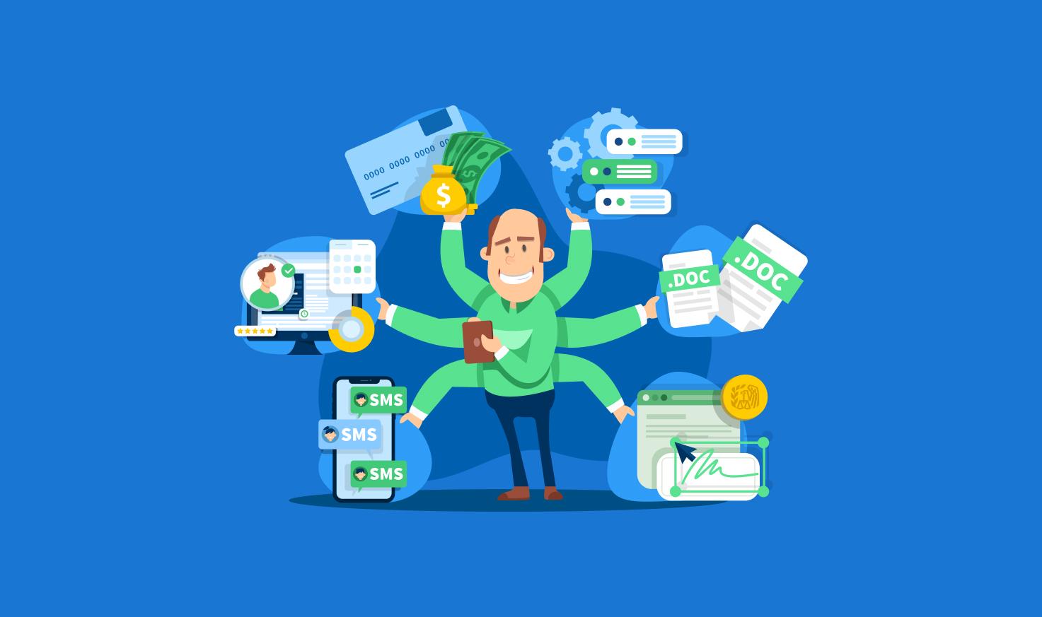 Quais são as funcionalidades de um software de gestão de empresas?